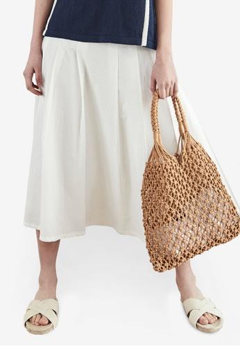 NAIN white Flare Skirt 1EAFCAAC8B8E62GS_1