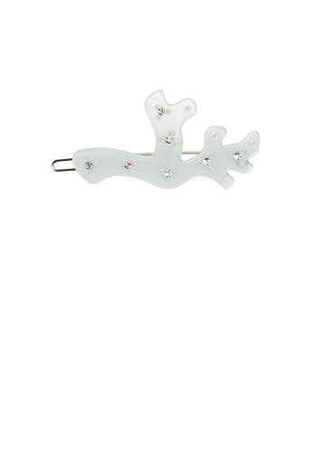 Glamorousky white Simple Temperament Light Green Geometric Tree-shaped Hair Clip with Cubic Zirconia 4562FACEA0CFADGS_1