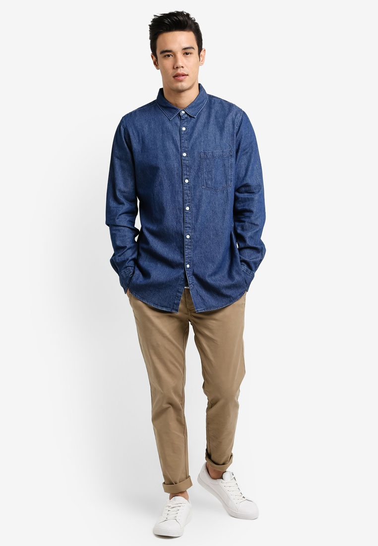 Indigo Denim Shirt 91 Cotton On qwSgOtwxI7