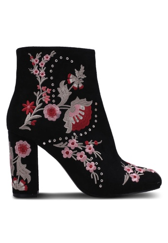 Miss Selfridge black Donna Embroidered Boots MI665SH0RZHGMY_1