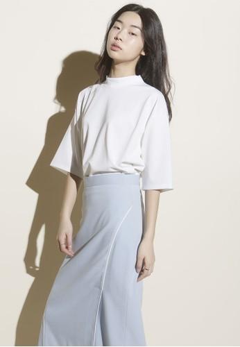 韓式風格esprit 童裝基本款高領七分袖上衣, 服飾, 上衣