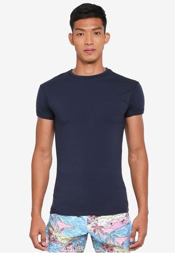 5eebdf5c Topman blue Navy Ultra Muscle Roller T-Shirt 5A92AAA36FF4C4GS_1