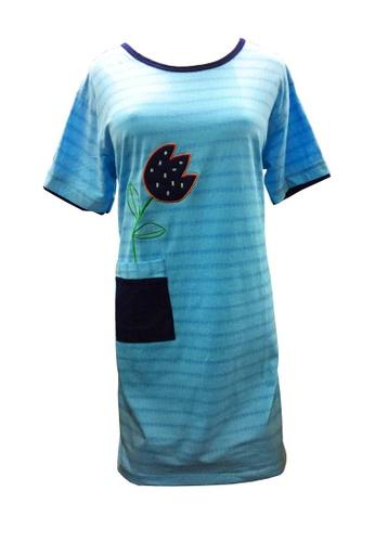 Modernform International blue Baby Blue Short Sleeve Cotton Pyjamas Dress (M768A) 0BAF5AACC7A8B3GS_1