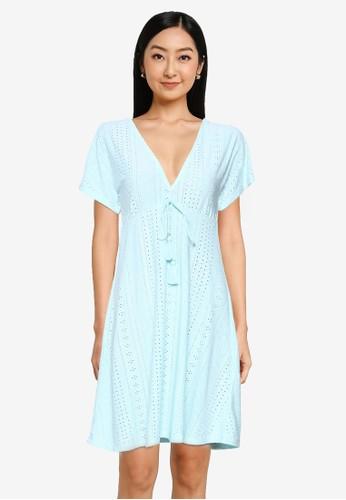 Springfield green Swiss Embroidery Tunic Dress 3137BAA873080FGS_1