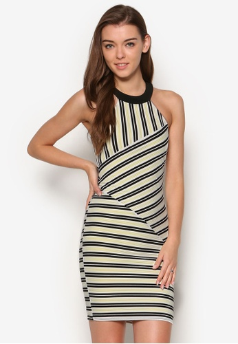 Miss Selfridge multi Cut About Stripe Dress MI665AA66OWNMY_1