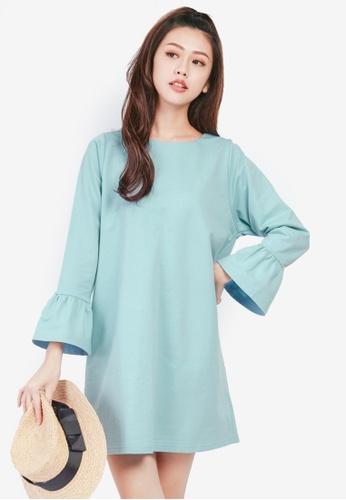 Tokichoi blue Ruffle Sleeved Dress E6063AA1613137GS_1