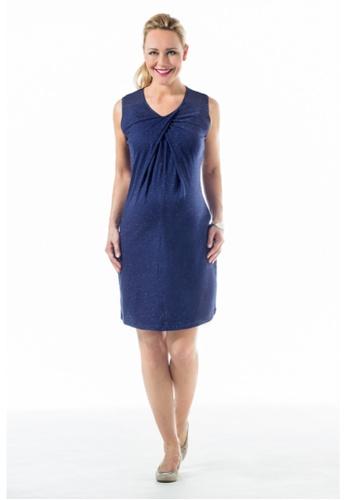 Bove by Spring Maternity navy Knitted Sleeveless Chara Overlap Dress Navy LDN2502 BO010AA0FLLNSG_1