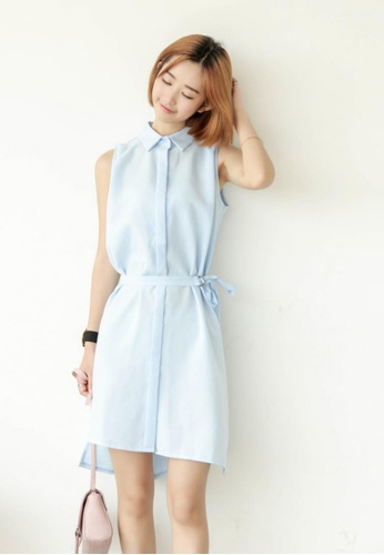 Shopsfashion blue Daisy Midi Flare Dress SH656AA10PPHSG_1