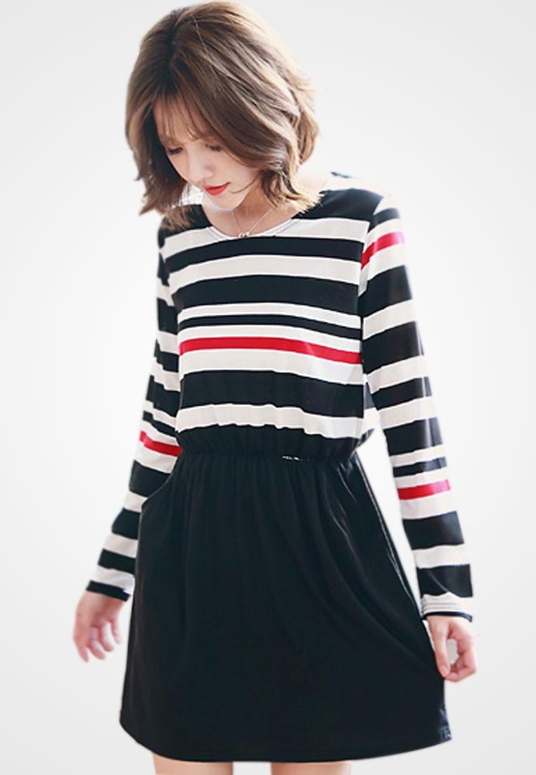 Twirl In Stripes Dress