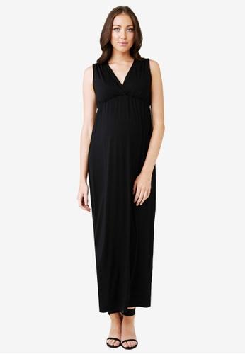 Ripe Maternity black Maternity Virtue Nursing Maxi Dress 4813EAA4DF4889GS_1