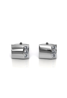 388db7a5365b Her Jewellery silver Cufflinks Mr Glossy 2 embellished with Crystals from  Swarovski BE1F5AC22FCC57GS 1