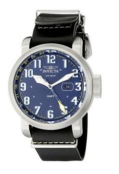 Aviator Men 52mm Black Leather Blue dial 515.24H Quartz