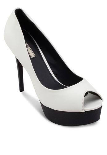 露趾厚底細跟高跟鞋, 女鞋, 魚口esprit 錶鞋