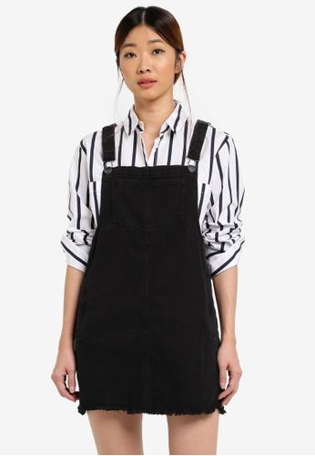 Cotton On black Denim Pinafore Dress 7D096AABD687B4GS_1