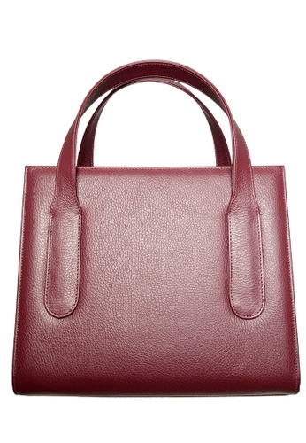 72 SMALLDIVE red 72 Smalldive Womens Women Large Pebbled Calf Leather Tote Bag In Bordeaux 86092ACD027065GS_1