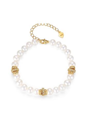SUNRAIS gold Premium Color Stone Gold Fashion Bracelet 0B0BAAC1AD09C9GS_1