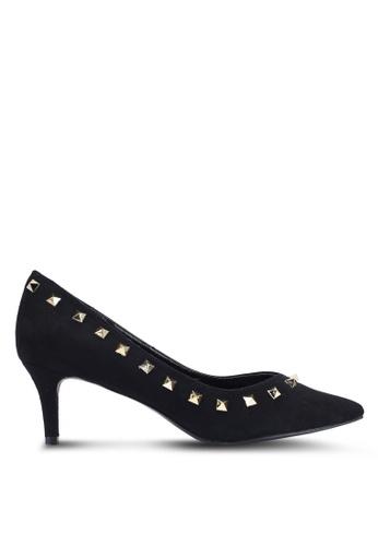 Carlton London 黑色 鉚釘高跟鞋 1887ASH0C5B338GS_1