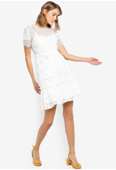 d555f157ce French Connection Chante Lace Mix Dress S  287.90. Sizes 6 8 10 12 14