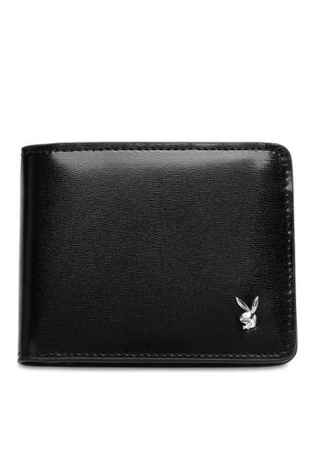 Playboy black Men's Bi Fold Wallet 7846DAC2E2A7F1GS_1
