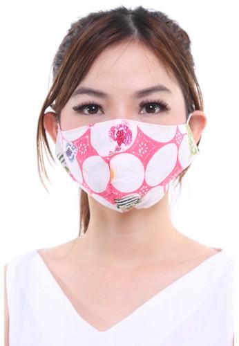 DhieVine Batik pink and multi Assorted Batik Encim Kawung Pink EAR-LOOP Facemask (3PCS) F616DES91DE106GS_1
