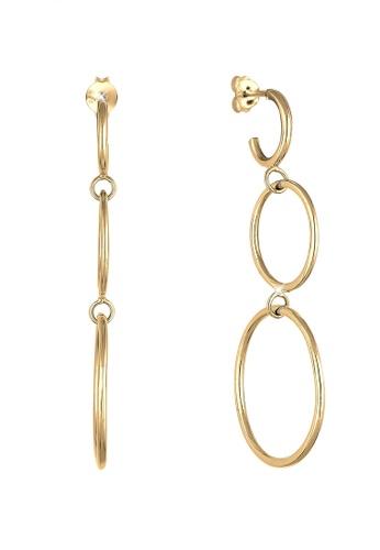ELLI GERMANY pink Elli Germany Earrings Sterling Silver Circle Gold-Plated 3EDEDAC915CEEFGS_1