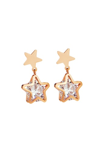 CELOVIS gold CELOVIS - Avvia Zirconia with Iconic Star Drop Earrings D601BAC968A6AEGS_1