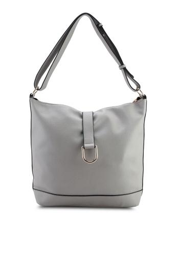 30d395c4be68 Buy Dorothy Perkins Grey Metal D-Ring Hobo Bag Online on ZALORA ...