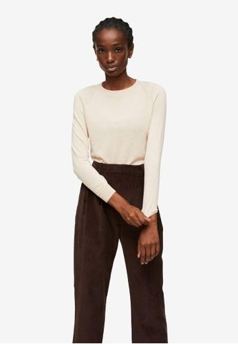 Mango beige Fine-Knit Sweater 359E7AA6426E3CGS_1