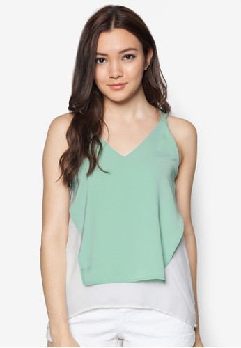 Colouzalora 衣服評價rblocked Top, 服飾, 坦克背心& 細肩帶背心