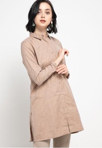 GEELA brown Grafton Shirt E144EAA3039F24GS_1
