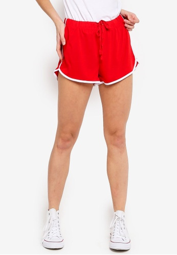 Cotton On red Retro Contrast Bind Shorts 04FFCAA89D4EB4GS_1
