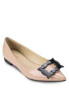 Frame Buckle Pointed Flats