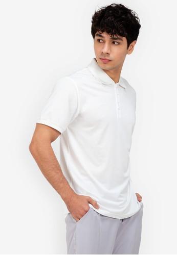 ZALORA ACTIVE white Side Stripes Detail Polo Shirt B3BA9AA788117CGS_1