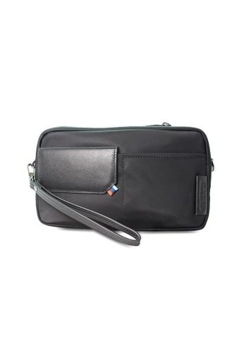 Santa Barbara Polo & Racquet black Santa Barbara Polo & Racquet Club Leather Travel Bag SA678AC0GHY4SG_1