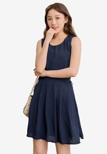 Eyescream blue Side Lace Flare Dress 5CA79AA3FD9C90GS_1