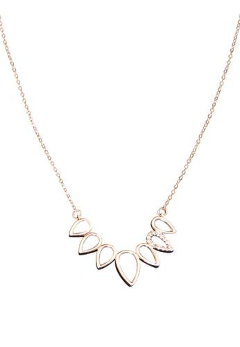 My Flash Trash gold Tear Drop CZ necklace 92085AC288E10DGS_1