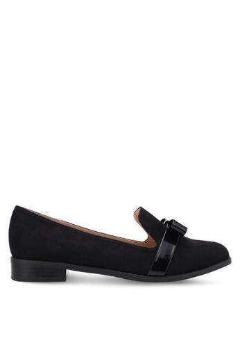 ZALORA black Patent Bow Loafers E3499SHD1897FCGS_1