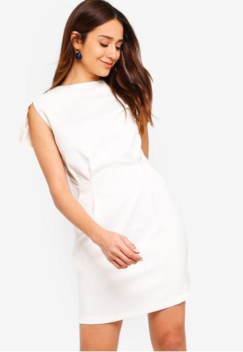 ZALORA white Split Cap Sleeves Dress FA254AA09F06D8GS_1