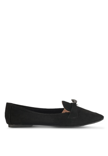 LOST INK black Emily Metal Bow Slippers B9862SHF4BFC6EGS_1
