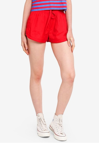 Factorie red Generic Shell Shorts 35504AA2EFF5D0GS_1