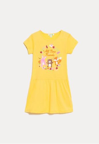 Bossini yellow Bossini Kids Girl Dress Yellow (84363609007) 2B1F4KA420672BGS_1