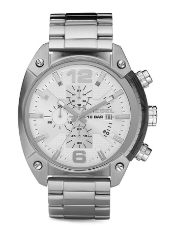 Diesel silver Diesel Overflow Stainless Steel Watch DZ4203 DI095AC90NKVMY_1