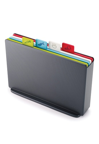 Joseph-Joseph grey Index Cutting Boards with Storage Case - Regular B7892HLF77A218GS_1