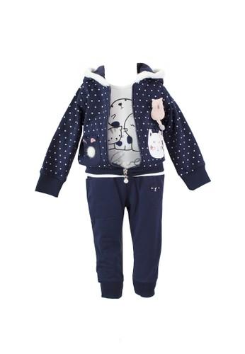 Mini Zo navy Kalila Baby Jacket Set Navy 6EDC8KA60EC132GS_1