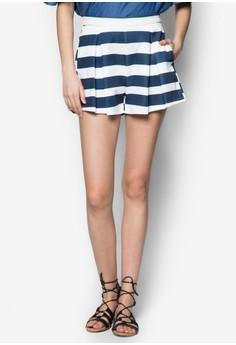 Stripe Flare Shorts