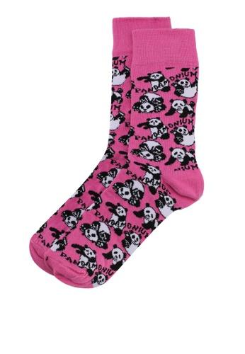 Topman pink Pink 'Pandamonium' Socks 948F3AA8CA844FGS_1