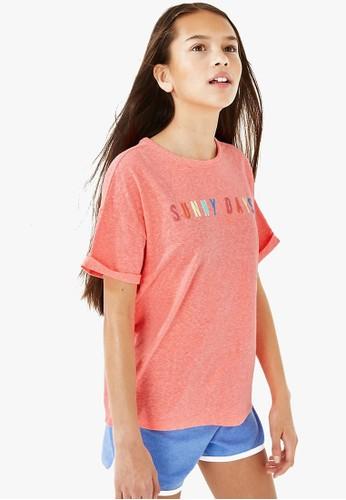 MARKS & SPENCER pink Rainbow Sunny Days Graphic T Shirt 42B3AKAFF4F7B7GS_1