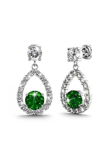 Annie Bloom gold ANNIE BLOOM Fenella Bloom Earrings in Emerald 7D40BAC7AF4847GS_1