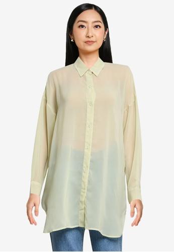 niko and ... green Longline Shirt C6576AA3CE652FGS_1
