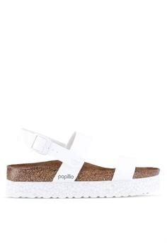 8d356310e Birkenstock white Cameron Birko-Flor Sandals 57C2CSH9961188GS 1